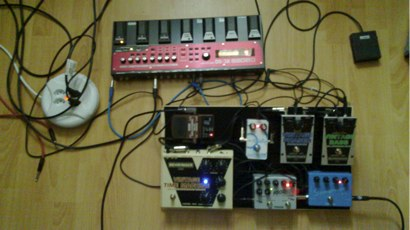 pedal board before finalisation